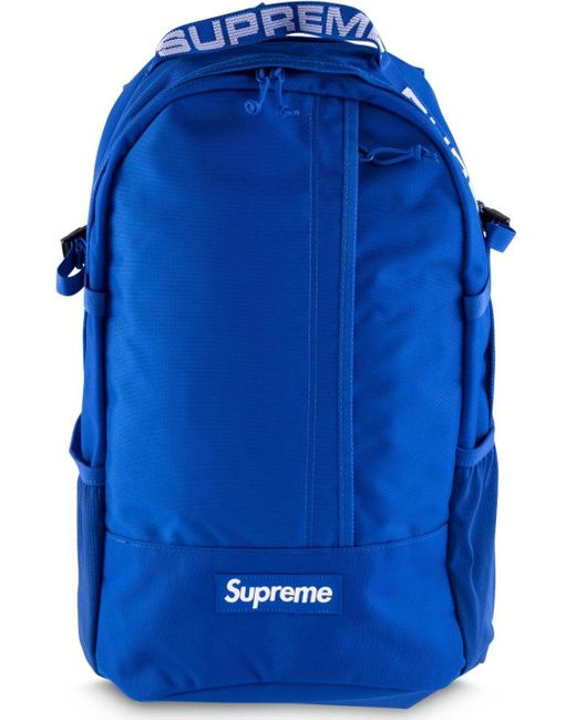 Supreme ロゴ バックパック Blue