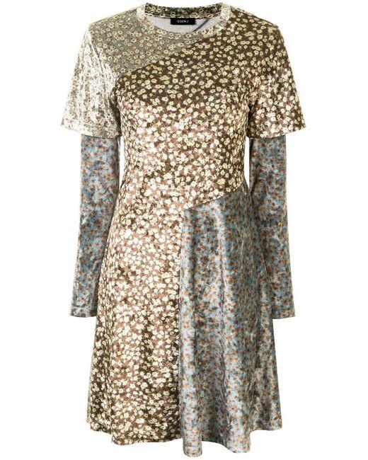 Goen.J フローラル ドレス Multicolor
