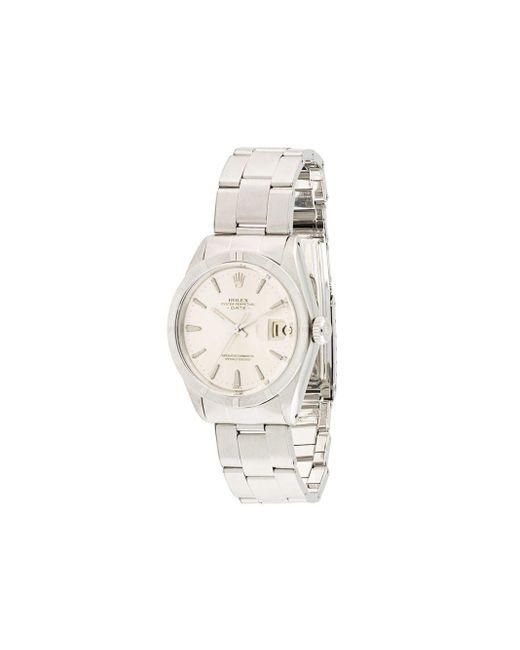 Наручные Часы Oyster Perpetual Date Pre-owned 34 Мм Rolex для него, цвет: Metallic