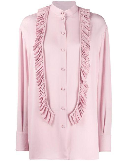 Valentino ラッフル ブラウス Pink