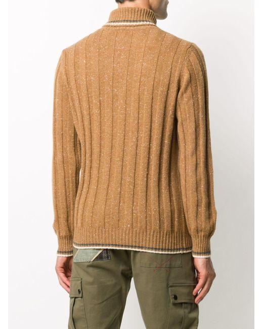 メンズ Eleventy カシミア リブセーター Multicolor
