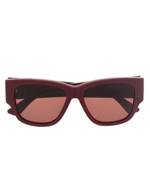 Солнцезащитные Очки В Квадратной Оправе Bottega Veneta, цвет: Red