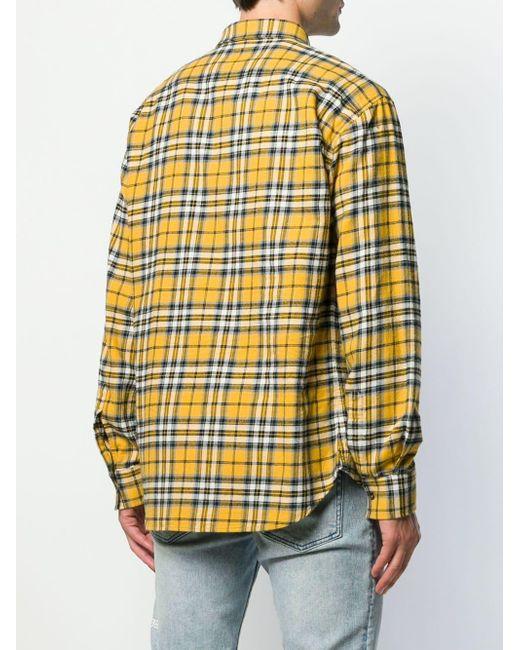 Camisa con motivo de cuadros DSquared² de hombre de color Yellow