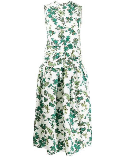 Victoria, Victoria Beckham シャーリング ドレス Green