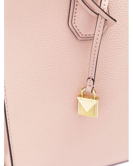 Большая Сумка-тоут 'mercer' С Внутренней Плиссировкой MICHAEL Michael Kors, цвет: Pink