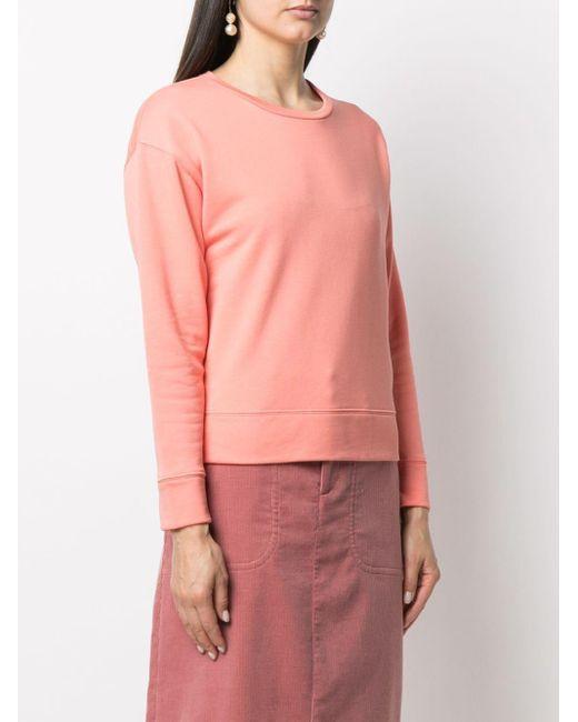 A.P.C. クルーネック スウェットシャツ Pink