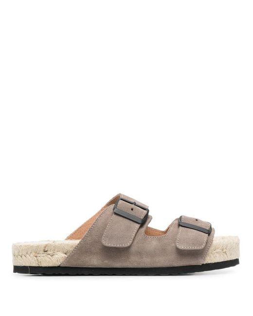 Manebí Gray Buckled Flat Sandals