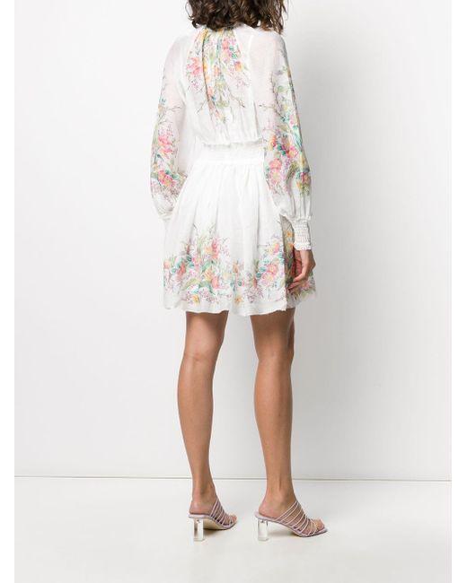 Zimmermann フローラル ドレス White