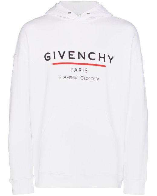 メンズ Givenchy ロゴ パーカー White