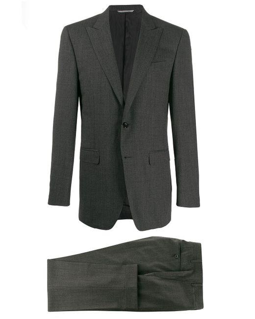 メンズ Canali スリムフィット シングルスーツ Gray