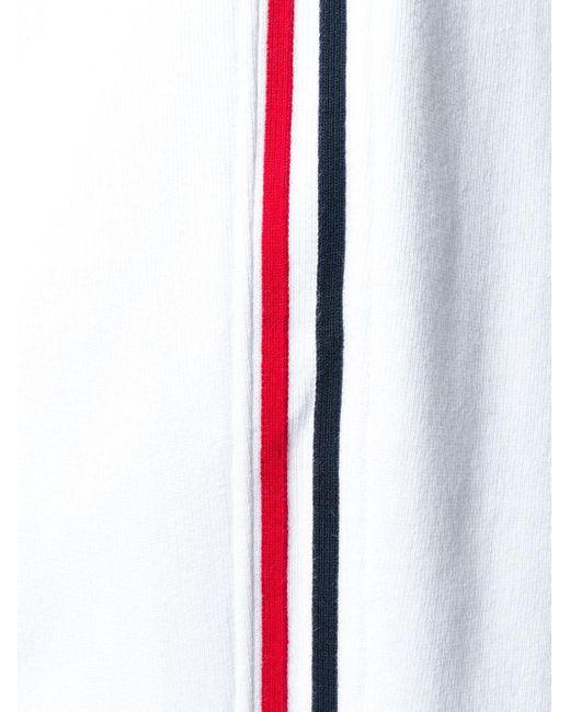 メンズ Thom Browne ストライプ トラックパンツ White