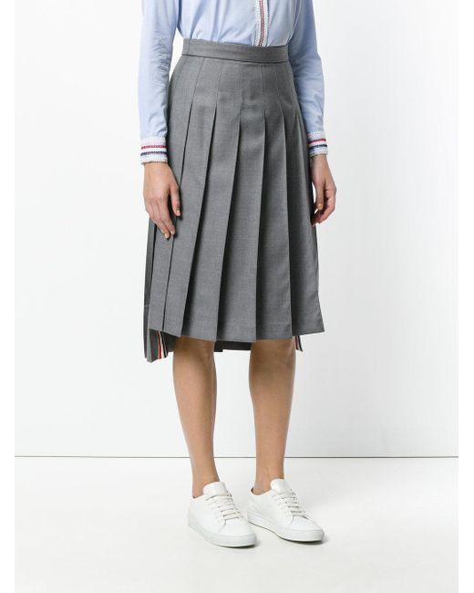 Thom Browne スクールユニフォーム プリーツスカート Gray