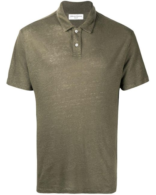 Рубашка Поло С Короткими Рукавами Officine Generale для него, цвет: Green