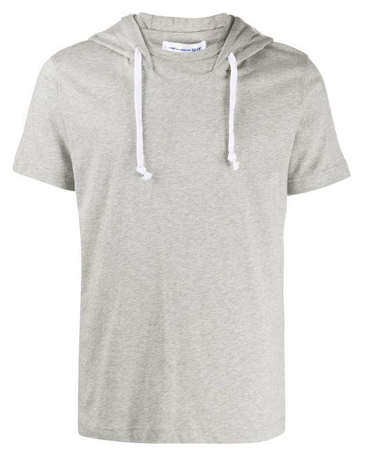 メンズ Comme des Garçons スリム フーデッドtシャツ Gray