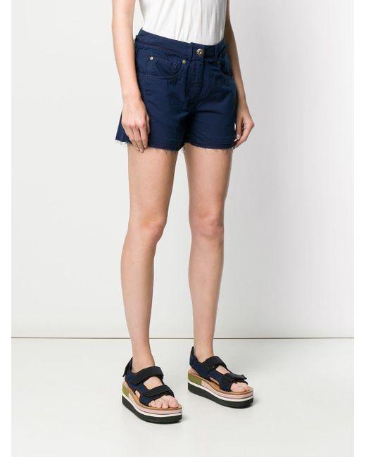 Pantalon crop classique Mr & Mrs Italy en coloris Blue