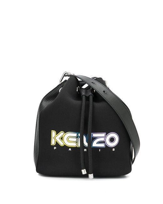 KENZO ロゴ バケットバッグ Black