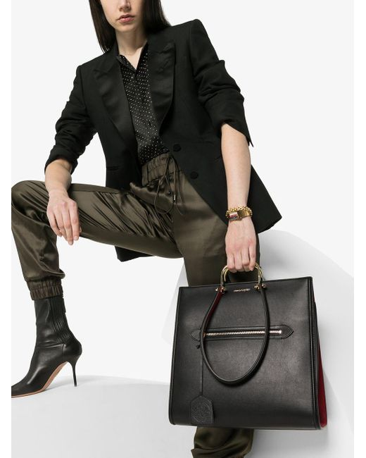Сумка-тоут Alexander McQueen, цвет: Black