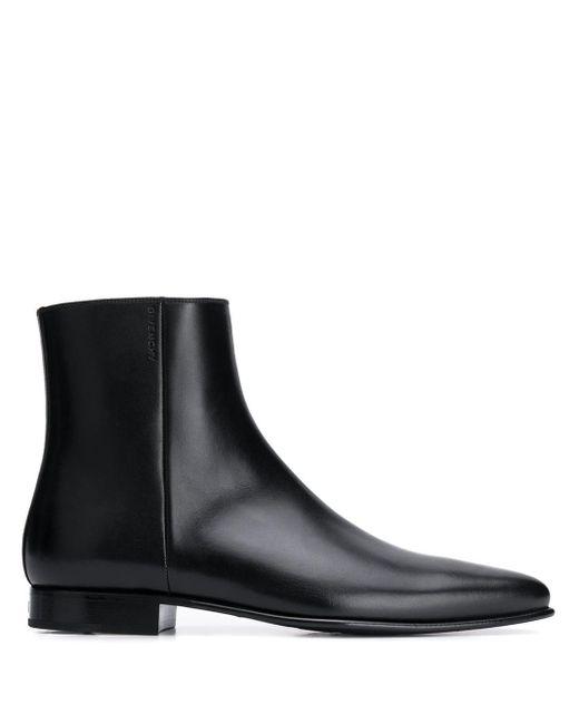 メンズ Givenchy ポインテッドトゥ ブーツ Black