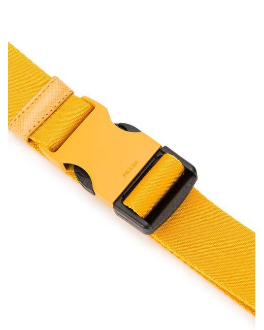 Cinturón con hebilla de seguridad Prada de hombre de color Yellow