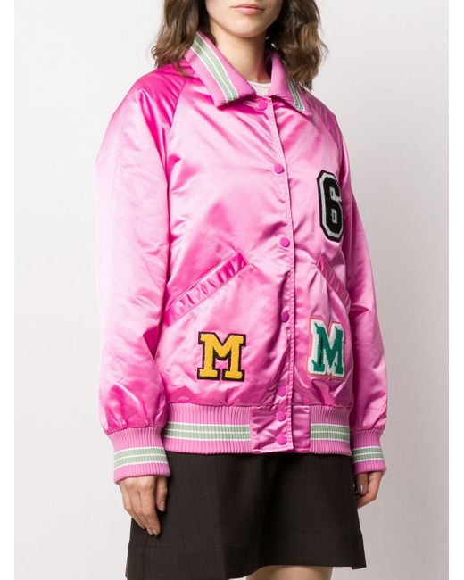 Bomber En Nylon Avec Patchs MM6 by Maison Martin Margiela en coloris Pink