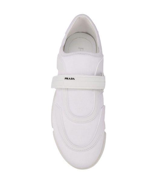 Prada White Sneakers mit klobiger Sohle