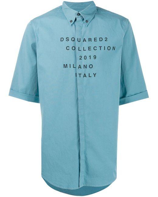 メンズ DSquared² プリント シャツ Blue
