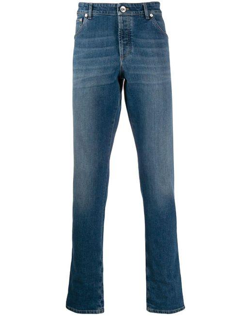 メンズ Brunello Cucinelli スリムジーンズ Blue