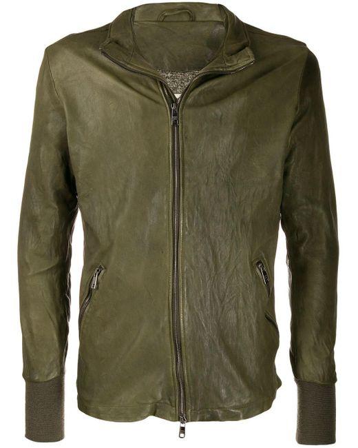 Veste zippé à effet craquelé Giorgio Brato pour homme en coloris Green