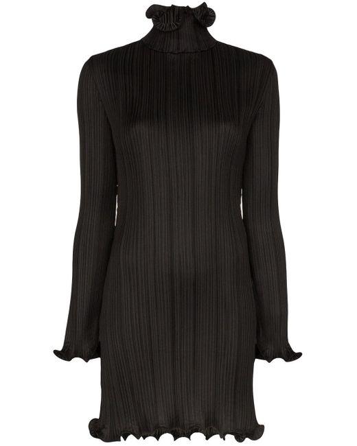 Givenchy プリーツ ショートドレス Black