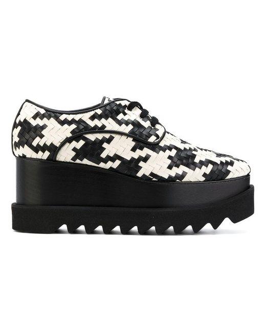 Stella McCartney - Black Zapatos con cordones y plataforma - Lyst