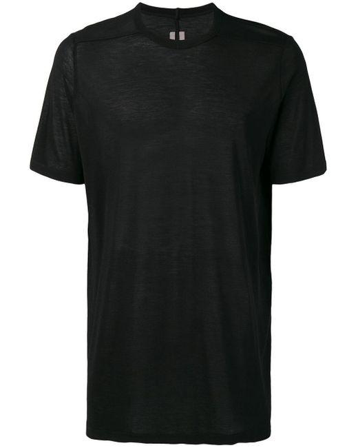 メンズ Rick Owens プレーン Tシャツ Black