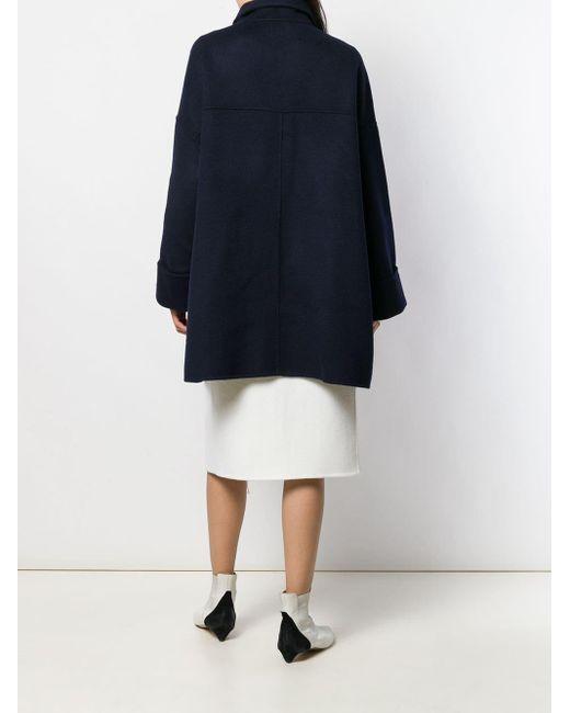 P.a.r.o.s.h. Abrigo Corto Oversize De Mujer Color Azul 8yeMl