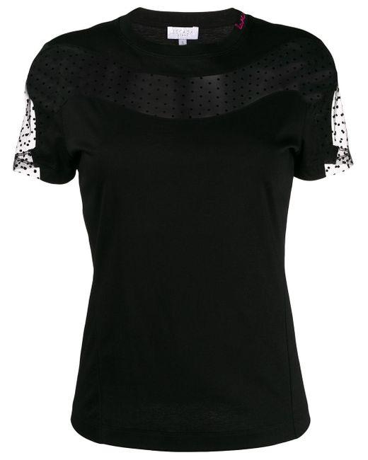 ESCADA レースインサート Tシャツ Black