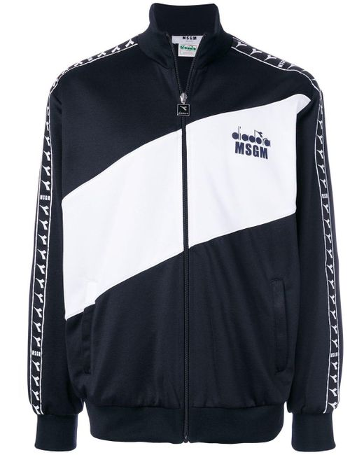 X Diadora sport jacket MSGM pour homme en coloris Black