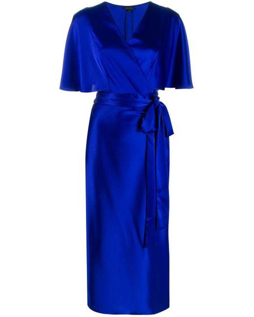ESCADA Vネック ドレス Blue