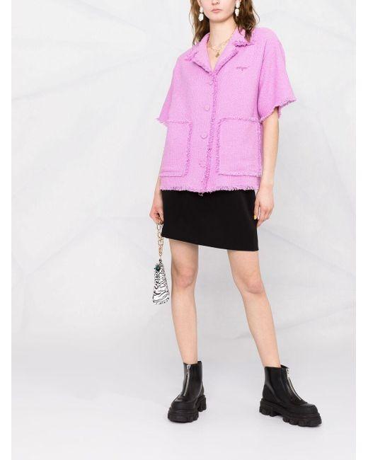 Жакет С Короткими Рукавами И Бахромой MSGM, цвет: Pink