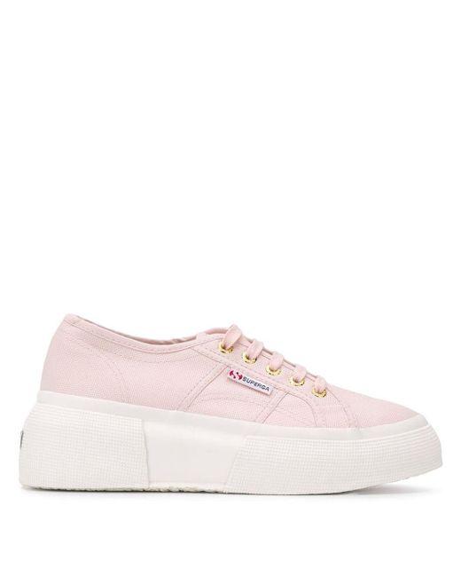 Superga チャンキーヒール スニーカー Pink