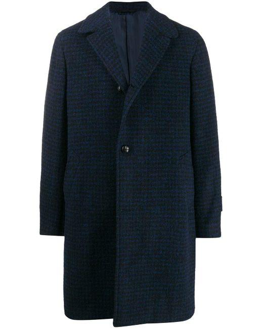 メンズ Mp Massimo Piombo チェック シングルコート Blue