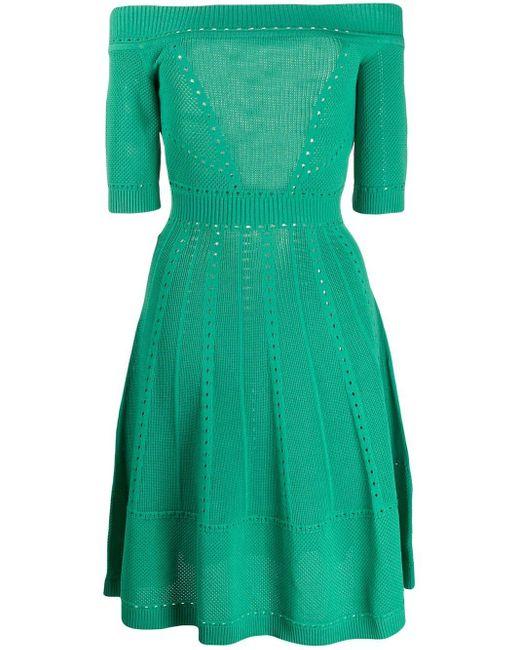 DSquared² オープンショルダー ドレス Green