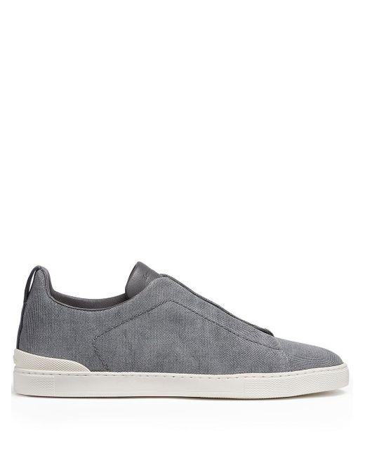 Ermenegildo Zegna Triple Stitch Sneakers in Gray für Herren
