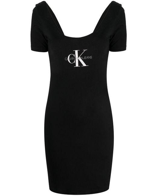 Calvin Klein ロゴ Tシャツワンピース Black