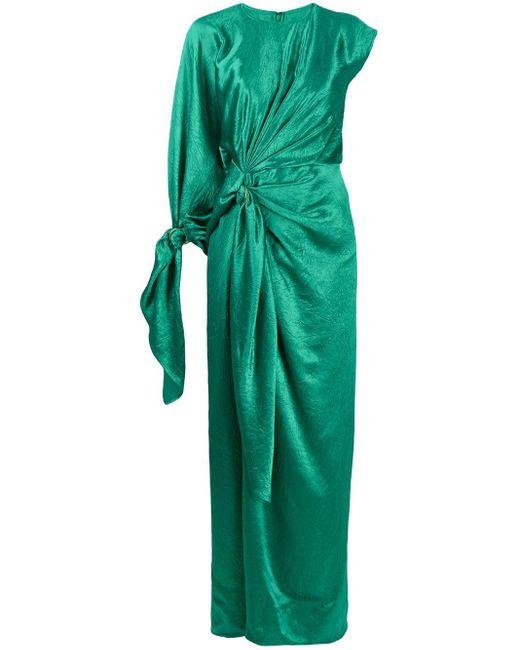 Sies Marjan ドレープ サテンドレス Green