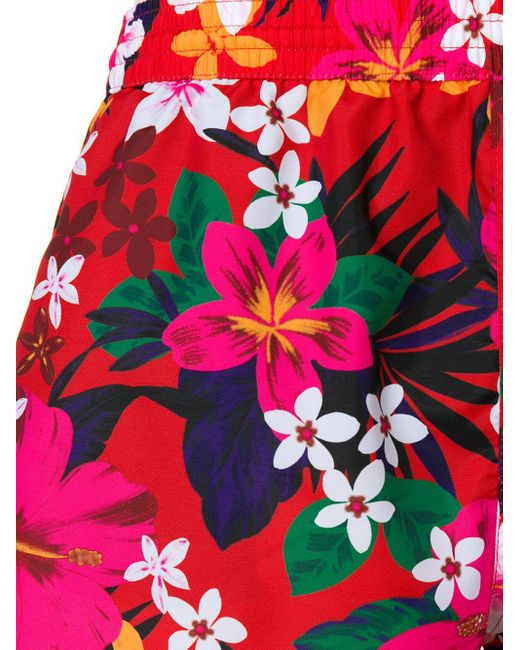 Ami Men's Pink Floral Print Swim Shorts