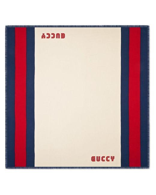 Écharpe à détail de Web Gucci pour homme en coloris Multicolor