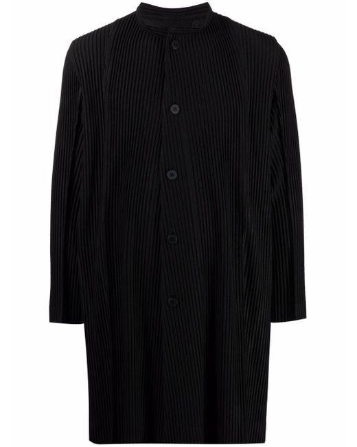 メンズ Homme Plissé Issey Miyake ボタン コート Black