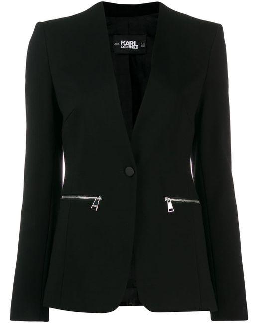 Karl Lagerfeld ロゴ ジャケット Black