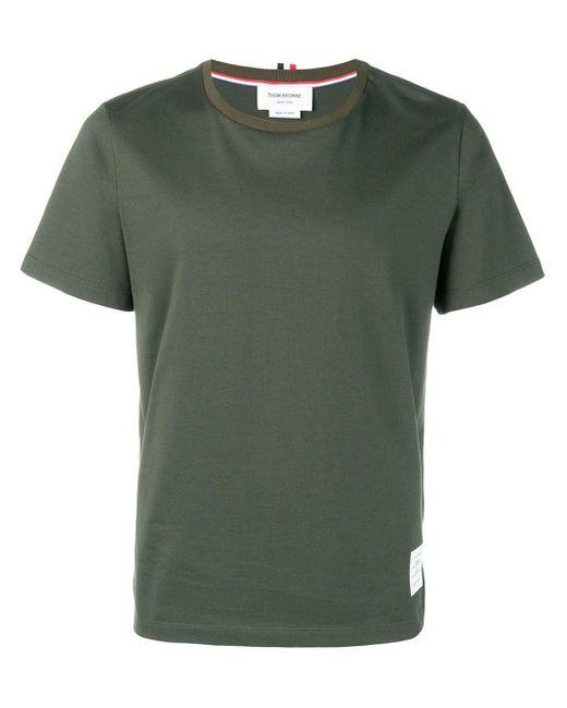 メンズ Thom Browne リラックスフィットジャージーtシャツ Green