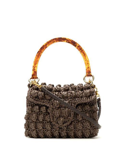 Mini sac à main en crochet à anse en résine Serpui en coloris Brown