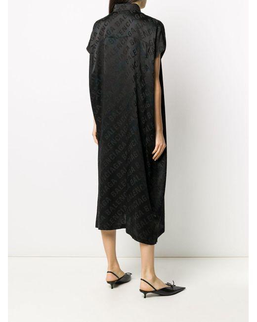 Balenciaga ロゴ シャツドレス Black