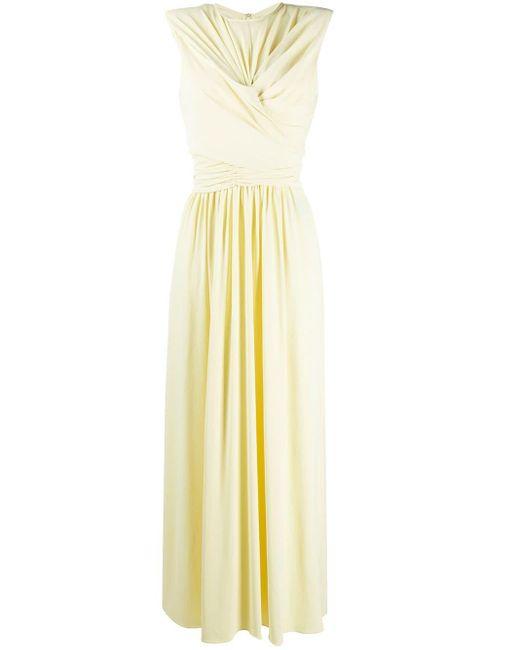 Isabel Marant ギャザー ドレス Yellow